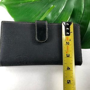Dooney & Bourke Bags - Dooney & Bourke Black Signature Bi Fold Wallet